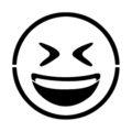 Emoji - Smiling Closed Eyes Stencil