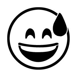 Emoji – Smiling Sweat Stencil