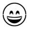Emoji - Smiling with Smiling Eyes Stencil