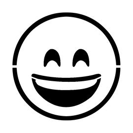 Emoji – Smiling with Smiling Eyes Stencil