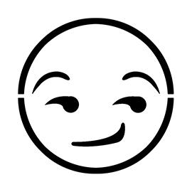 Emoji – Smirk Stencil