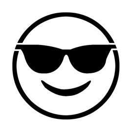 Emoji – Sunglasses Stencil