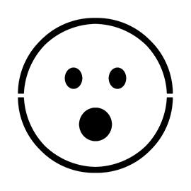 Emoji – Surprised Stencil
