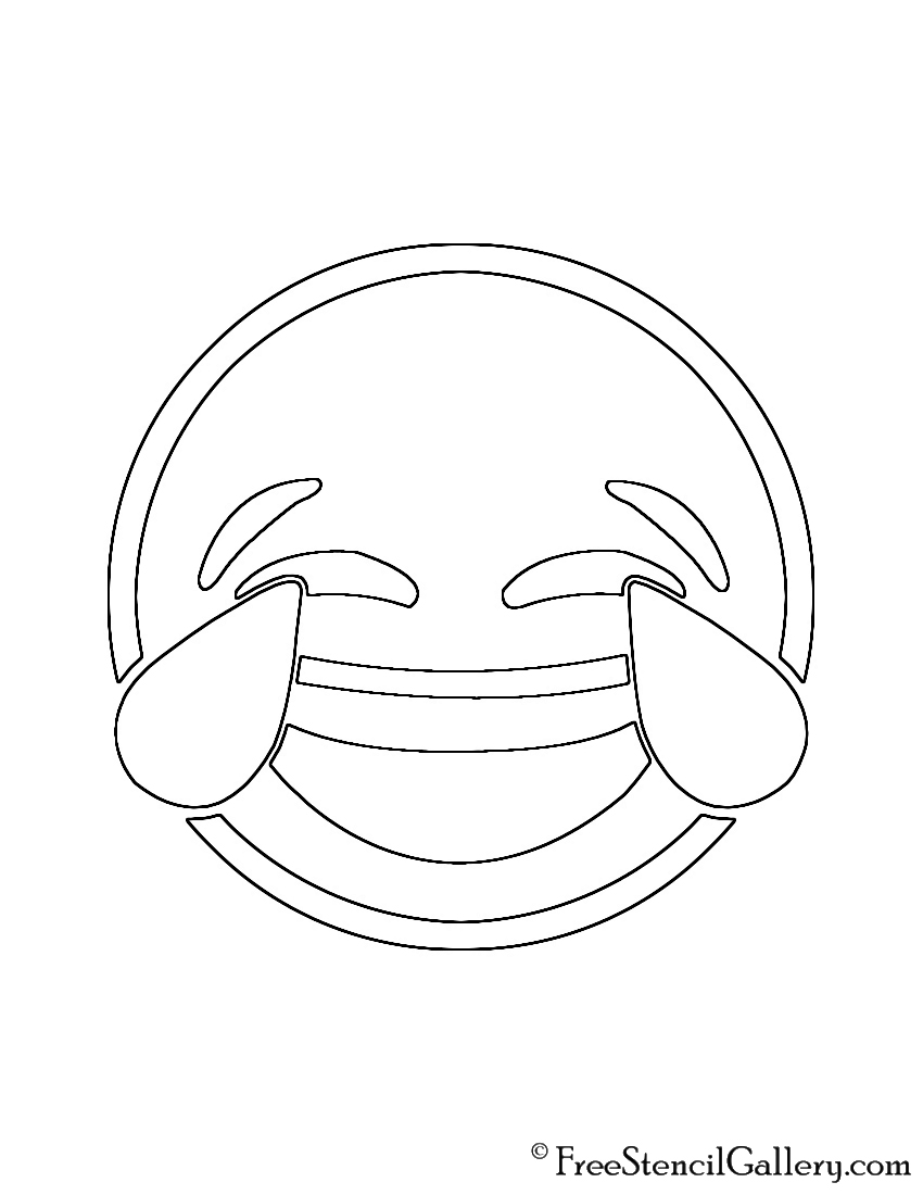 image regarding Emoji Stencils Printable referred to as Emoji - Tears of Happiness Stencil No cost Stencil Gallery