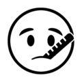 Emoji - Thermometer Stencil