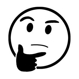 Emoji – Thinking Stencil