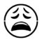 Emoji - Tired Stencil