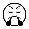 Emoji - Very Mad Stencil