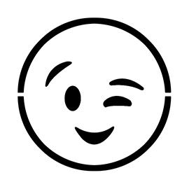 Emoji – Wink Stencil