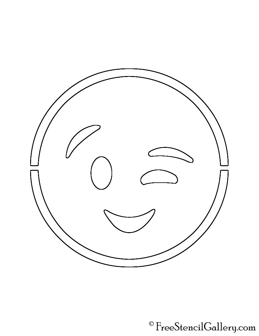 Declarative image intended for emoji stencils printable