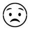 Emoji - Worried Stencil