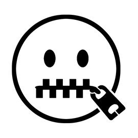 Emoji – Zipper Mouth Stencil