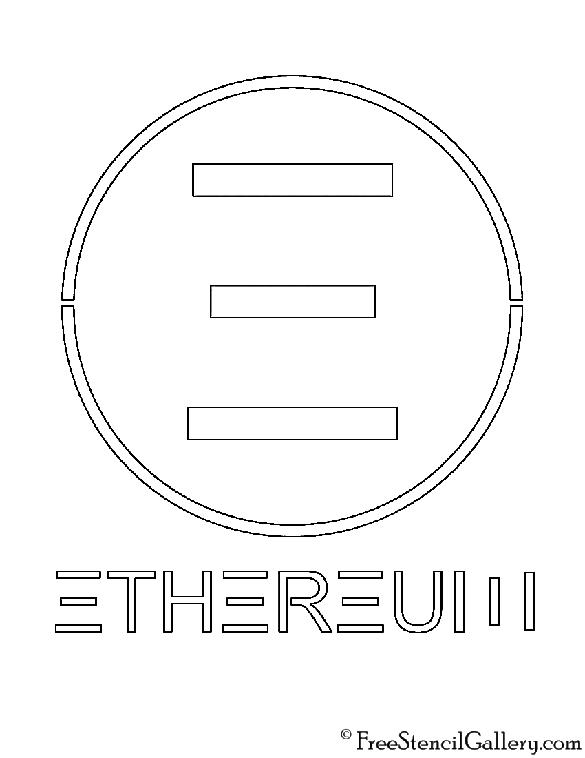 Ethereum Symbol 02 Stencil