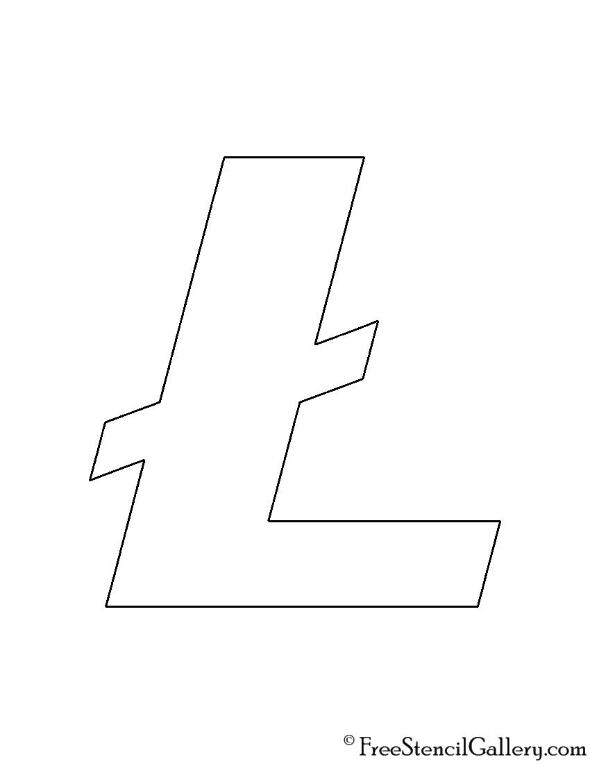 Litecoin Symbol Stencil