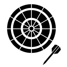 Dartboard 02 Stencil