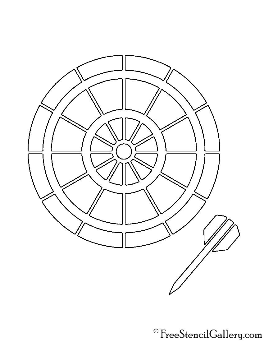 picture relating to Printable Dart Board identify Dartboard 02 Stencil No cost Stencil Gallery