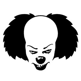 It – Pennywise the Clown Stencil