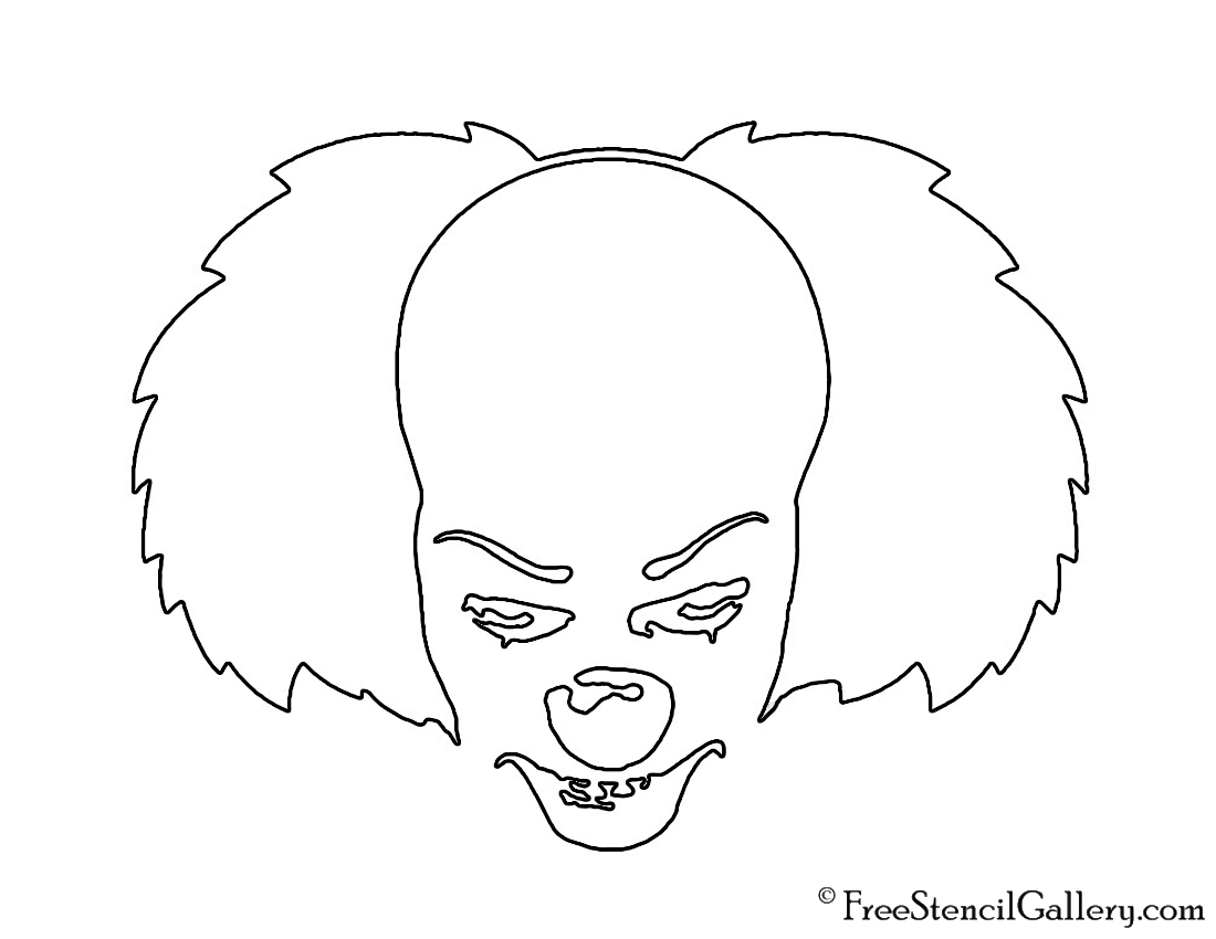 It - Pennywise the Clown Stencil | Free Stencil Gallery