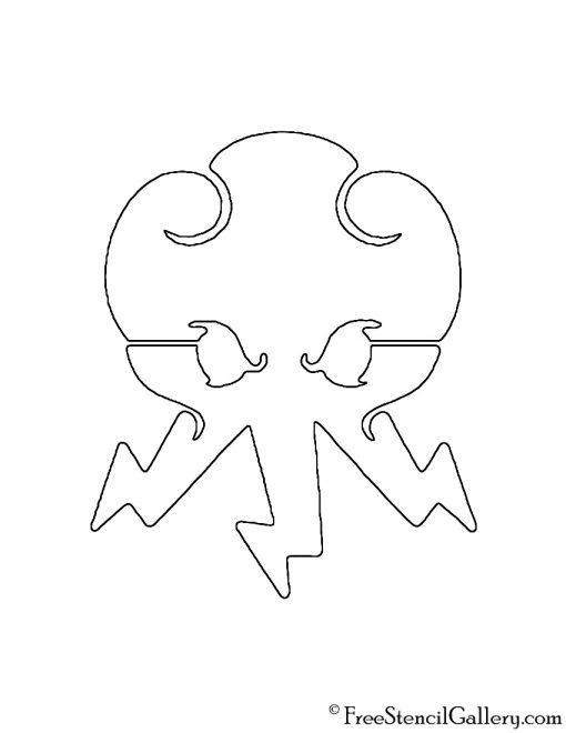 Lego - Ninjago Lightning Symbol Stencil