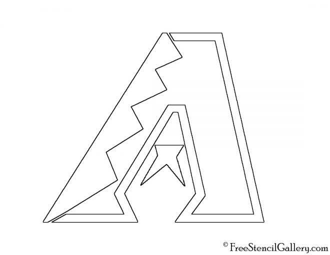 MLB - Arizona Diamondbacks Logo Stencil