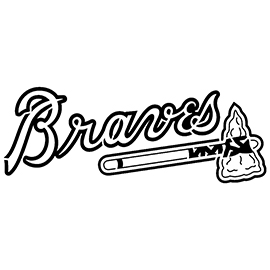 MLB – Atlanta Braves Logo Stencil