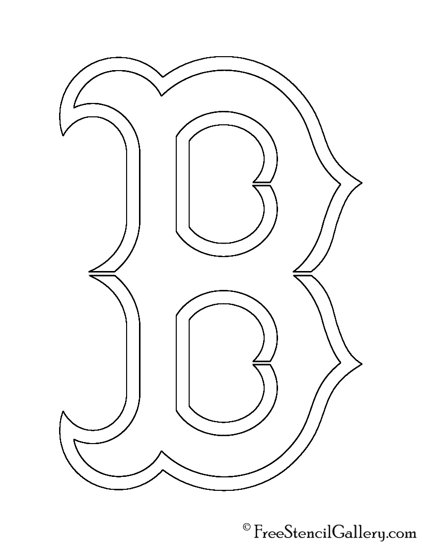 picture relating to Boston Red Sox Printable Schedule titled MLB - Boston Pink Sox Brand Stencil Totally free Stencil Gallery