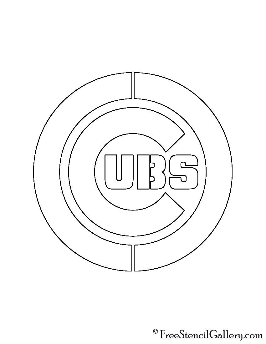photo relating to Printable Chicago Cubs Logo referred to as MLB - Chicago Cubs Emblem Stencil Cost-free Stencil Gallery
