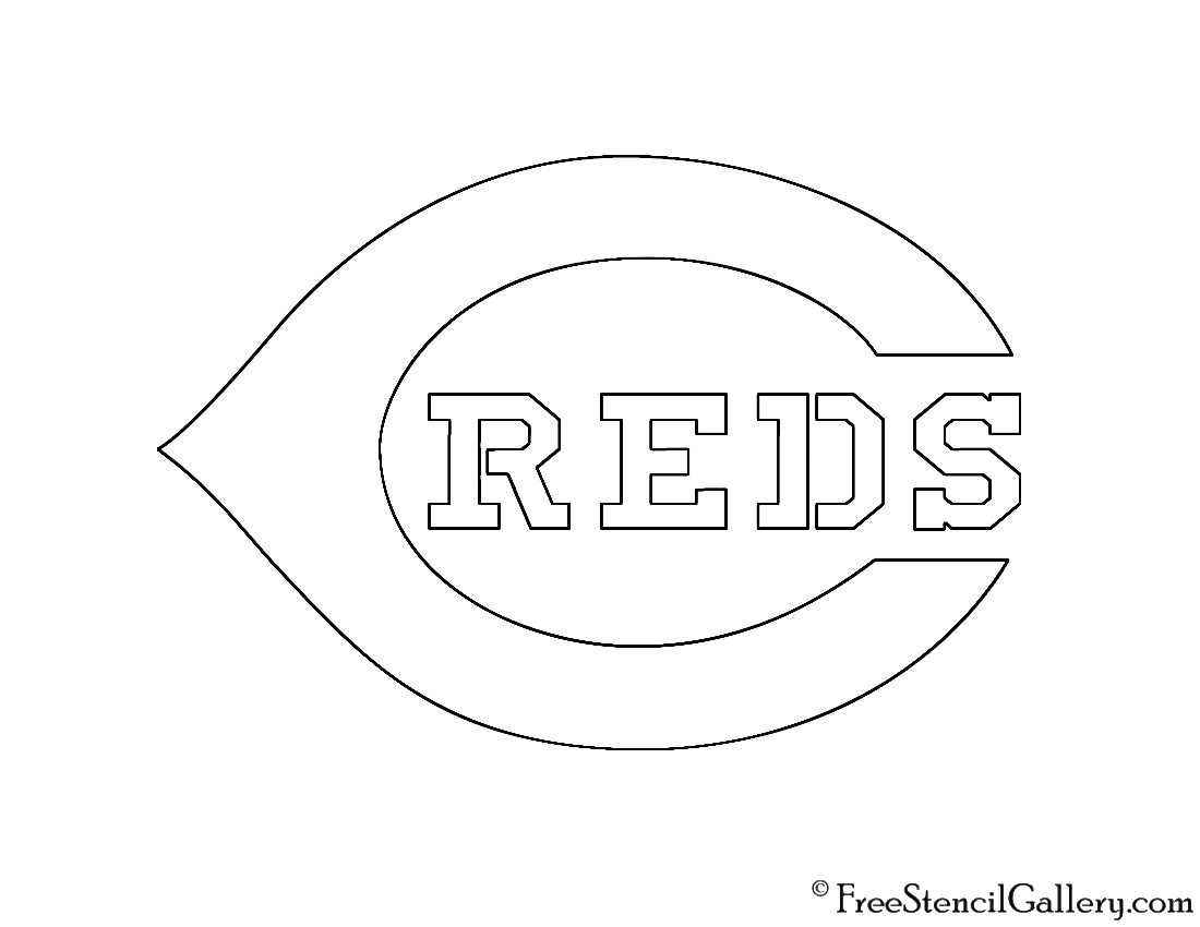 image about Cincinnati Reds Printable Schedule named MLB - Cincinnati Reds Emblem Stencil Free of charge Stencil Gallery