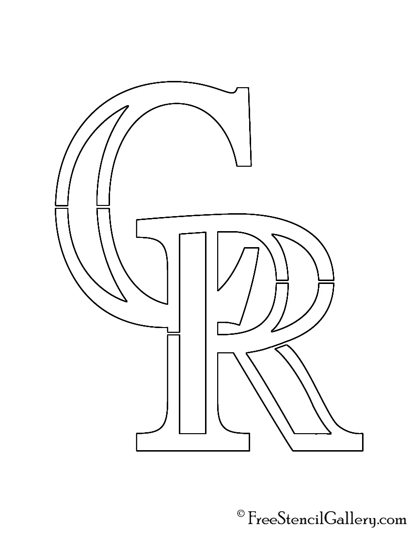 rockie logo coloring pages - photo#5