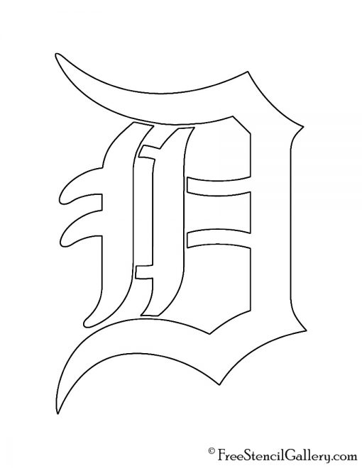 MLB - Detroit Tigers Logo Stencil