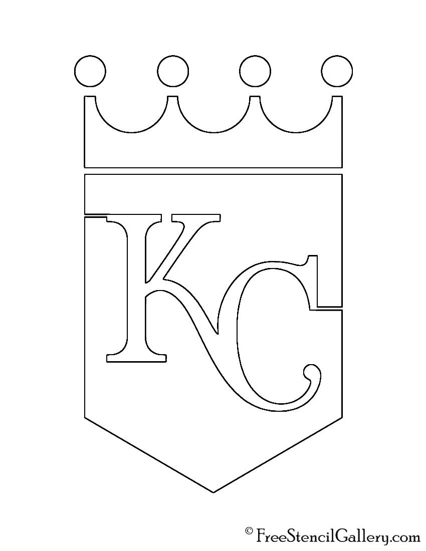 Mlb Kansas City Royals Logo Stencil Free Stencil Gallery