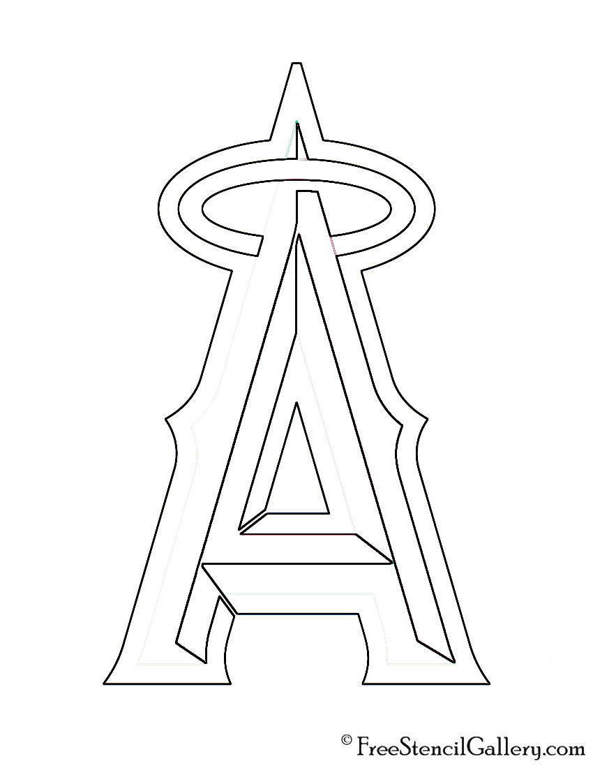 los angeles angels coloring pages - photo#9