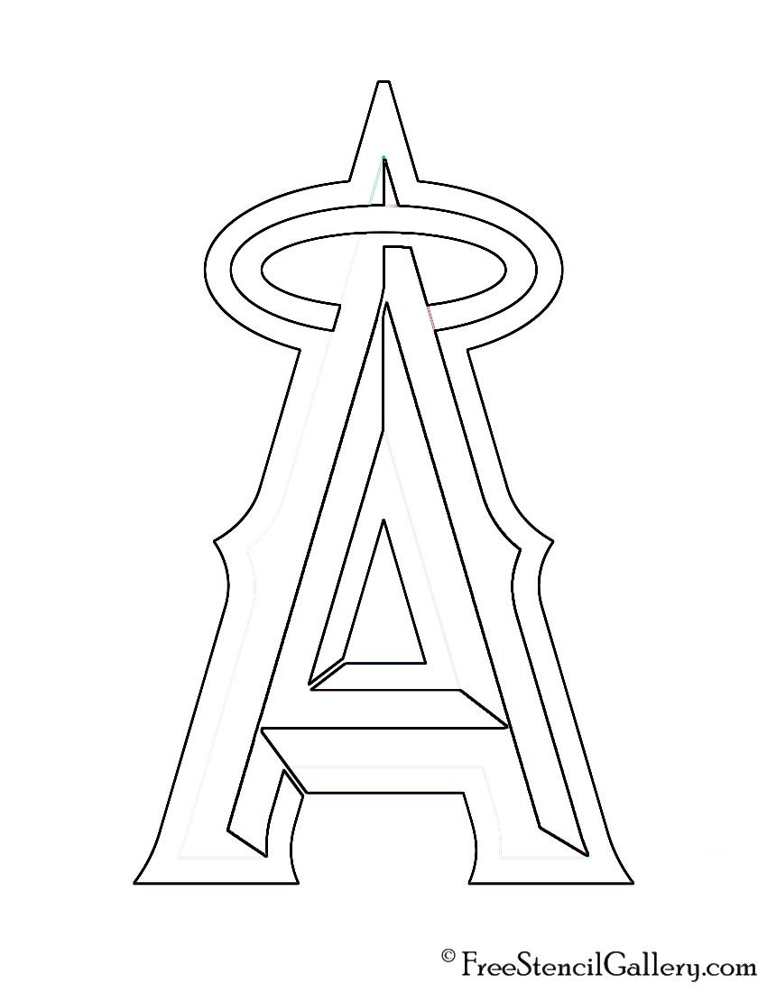 MLB - Los Angeles Angels Logo Stencil