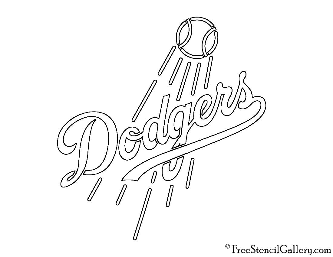 Mlb Los Angeles Dodgers Logo Stencil Free Stencil Gallery
