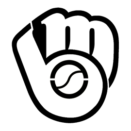 MLB - Milwaukee Brewers Logo Stencil