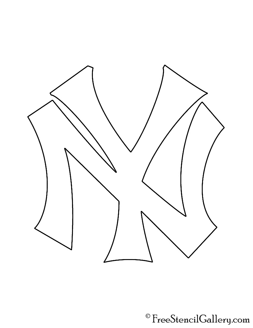 photo relating to Yankees Printable Schedule known as MLB - Fresh York Yankees Brand Stencil Totally free Stencil Gallery