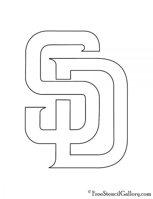 MLB - San Diego Padres Logo Stencil