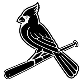 MLB – St Louis Cardinals Logo Stencil