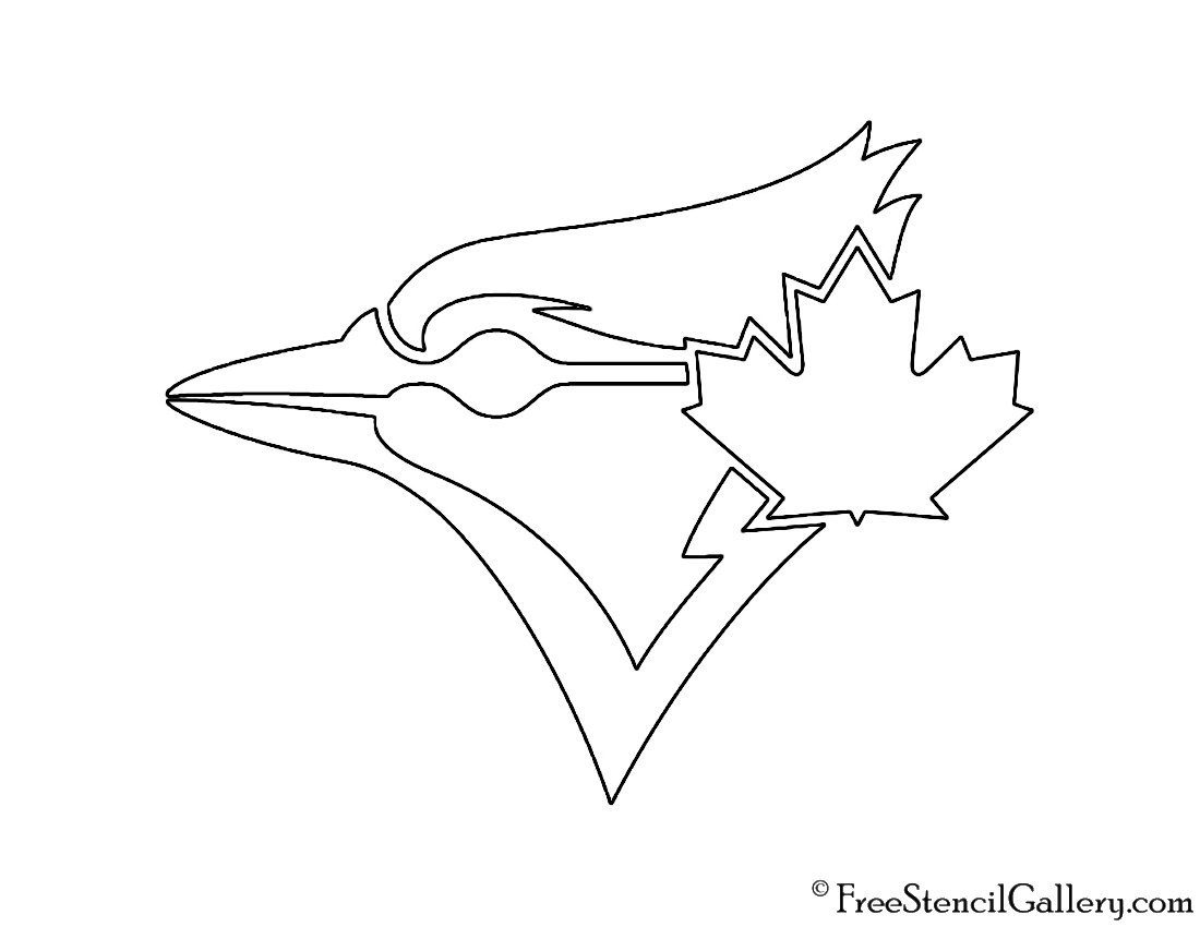printable coloring pages of blue jays | Blue Jays Logo Coloring Coloring Pages