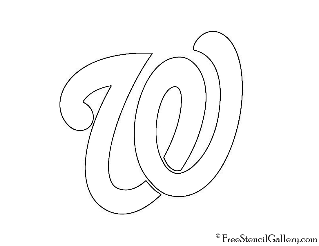 image relating to Washington Nationals Printable Schedule named MLB - Washington Nationals Emblem Stencil Totally free Stencil Gallery