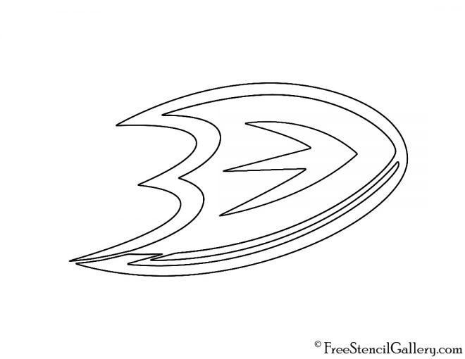 NHL - Anaheim Ducks Logo Stencil