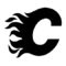 NHL - Calgary Flames Logo Stencil