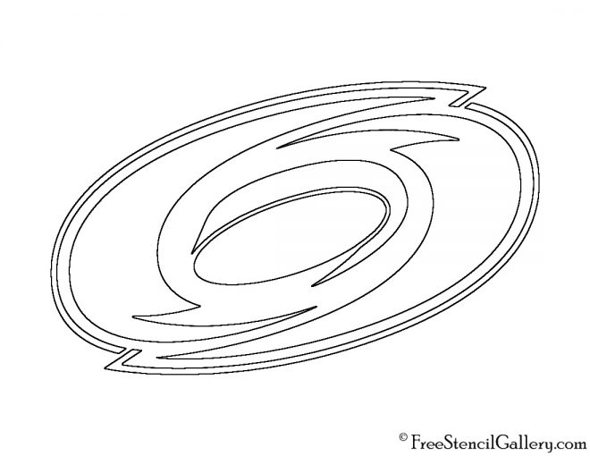 NHL - Carolina Hurricanes Logo Stencil