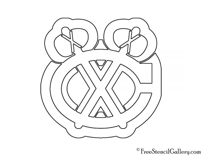 NHL - Chicago Blackhawks Logo Stencil