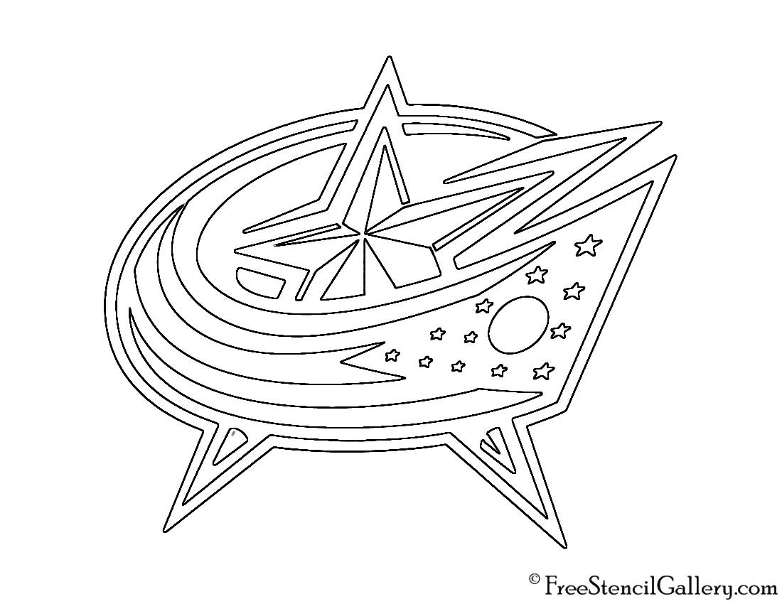Nhl Colombus Blue Jackets Logo Stencil Free Stencil