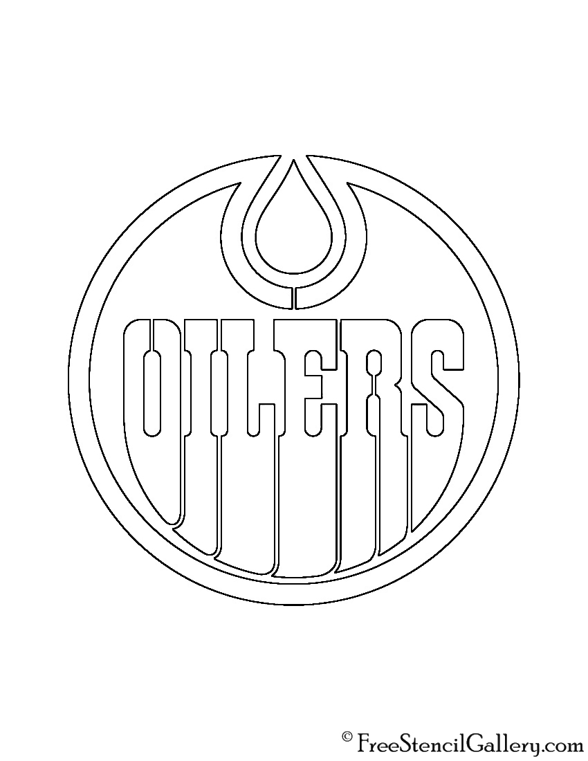 oilers coloring pages - photo#5