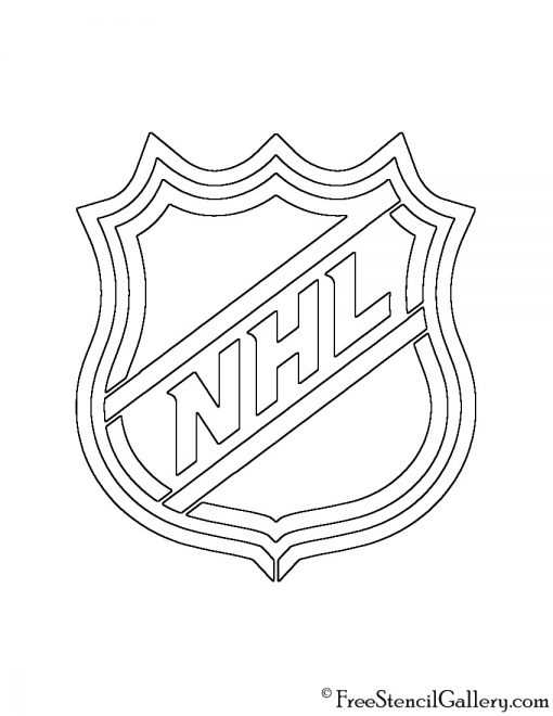 NHL Logo Stencil