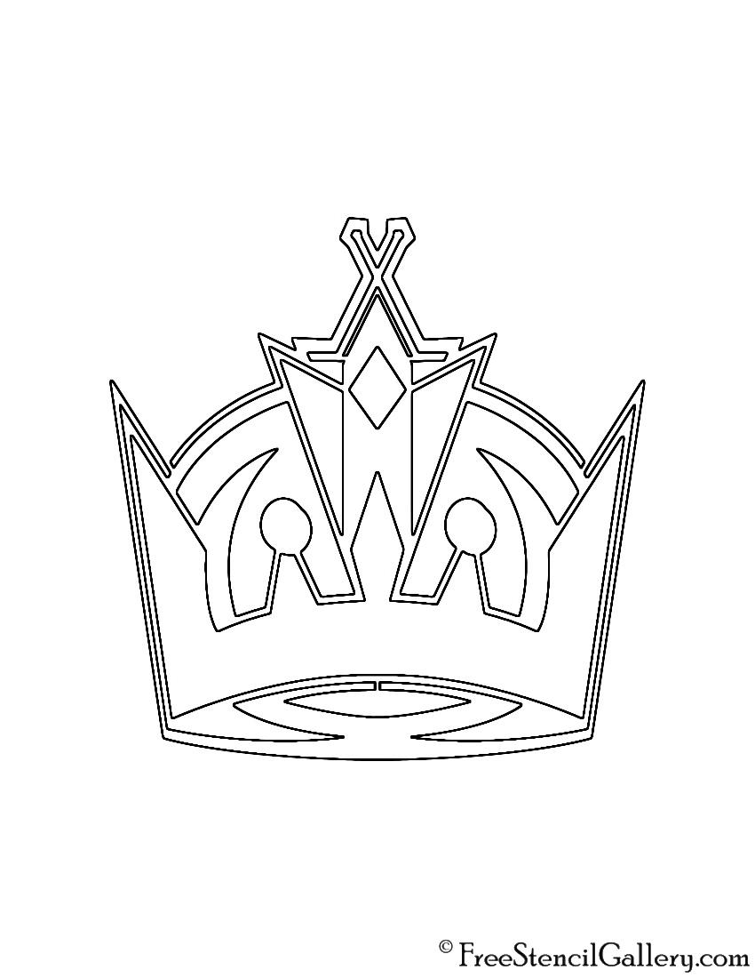 Nhl Los Angeles Kings Logo Stencil Free Stencil Gallery