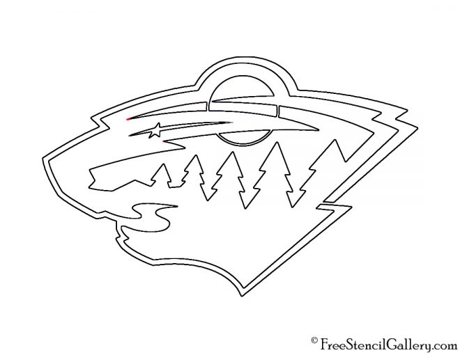 NHL - Minnesota Wild Logo Stencil