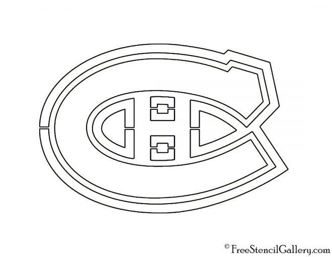 NHL - Montreal Canadiens Logo Stencil
